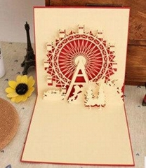 Giant wheel Greeting cards POP UP