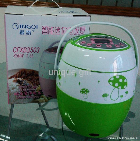 350w Mini electric Non-Stick Inner pot rice cooker  2