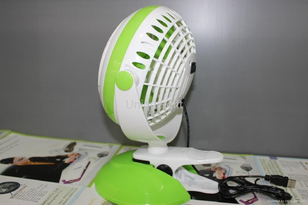 """6 """" battery rechargeable fan USB Table Fan 4"""