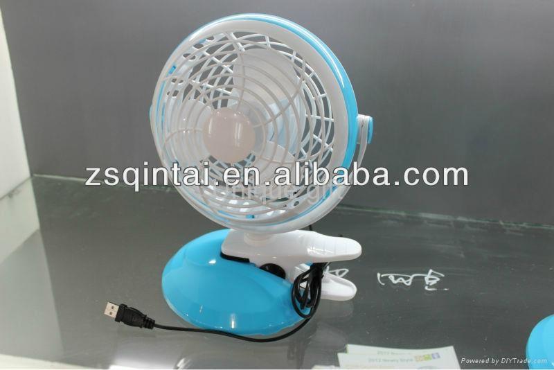 """6 """" battery rechargeable fan USB Table Fan 5"""