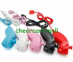 Nunchuck Controller for Nintendo Wii Games White Black Red Pink Blue