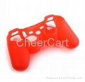 Silicon case for PS3 controller black white red blue