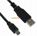 USB Cable 5 Pin Mini 2.0 Cable for PSP PS3 Camera MP3 3