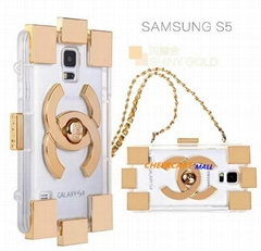 New Arrival Channel Luxury Building Block Transparent TPU Case For Iphone 4 4s 5