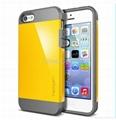 Double Color Spigen Hybrid SLIM ARMOR SGP Case for iPhone 4 4S 5 5S 5G