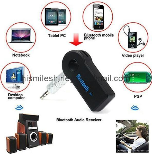 Hands Free Car Bluetooth Audio Music Receiver 3.5mm 6