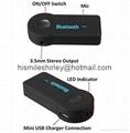 Hands Free Car Bluetooth Audio Music Receiver 3.5mm 2