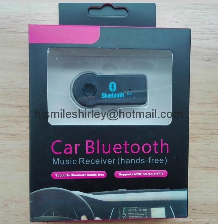 Hands Free Car Bluetooth Audio Music Receiver 3.5mm 8