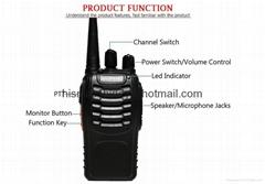 Walkie Talkie Radio BaoFeng BF-888S 5W Portable Radio Transceiver Interphone