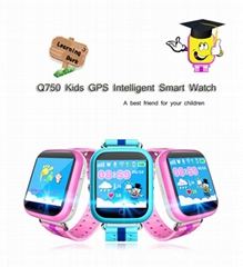 GPS smart watch Q750 baby watch SOS call