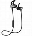 sport headphone SLS-100 Metal Magnetic stereo bluetooth earbud wireless earphone