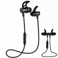 sport headphone SLS-100 Metal Magnetic stereo bluetooth earbud wireless earphone
