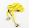 High Quality Metal Earphone Shoelace In Ear Headset handsfree Stereo Headphones