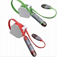 Retractable 2 in 1 Micro Charger USB Cable For IPhone Samsung Android 5