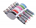 Retractable 2 in 1 Micro Charger USB Cable For IPhone Samsung Android