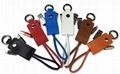 Leather Key Chain Micro USB Type C