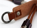 Leather Key Chain Micro USB Type C Charging Cable for iPhone/ Android/ 2 in 1/ T
