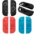 Soft Silicone Protective Skin Case+2 Thumbstick Grips Caps For Nintend Switch