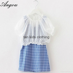 Angou Girl Dress Chiffon Children Summer Clothing Kids Dresses Princess dress