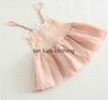 Angou New baby Girls slip dress Toddler Kids Clothes Sleeveless girl Tutu Dress  4