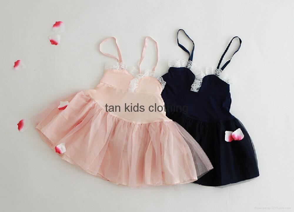 Angou New baby Girls slip dress Toddler Kids Clothes Sleeveless girl Tutu Dress  2