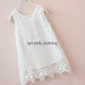 Agnou Summer Lace Vest Girls Dress Baby Girl Princess Dress Chlidren Clothes  5