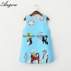 Angou Girls Dresses Brand Kids Clothes Girls Costumes Princess Dress Character