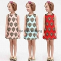 Angou European Girls Dresses Summer Baby