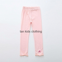 Angou Spring Autumn Embroidery girl pants baby girl leggings kids cotton pants
