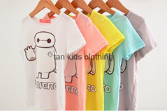 Angou Cotton Baby Girls&Boys Solid T-Shirts,High Quality Kids TOPS Big Hero