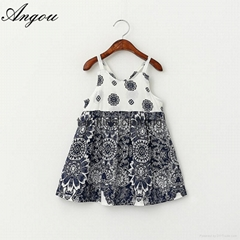 Wholesale Baby Girls Dress slip floral pattern dress children customizable cloth