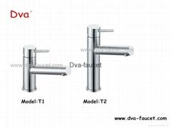 Stainless steel bathroom basin faucet