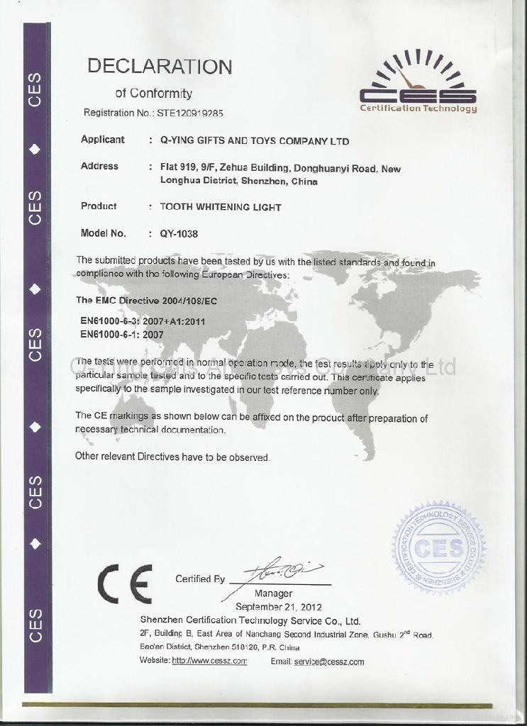 CE Certificate of LED Rose