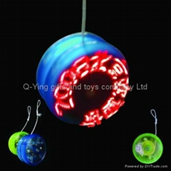 LED flashing message yoyo ball