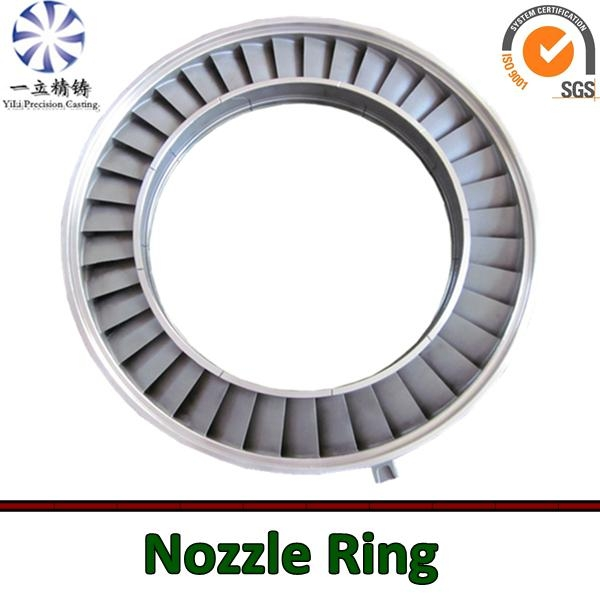 Stainless steel vacuum casting nozzle ring used for locomotive turbocharger 1