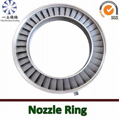 Stainless steel vacuum casting nozzle ring used for locomotive turbocharger