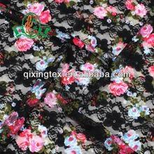 錦氨印花染色蕾絲布內衣布 2
