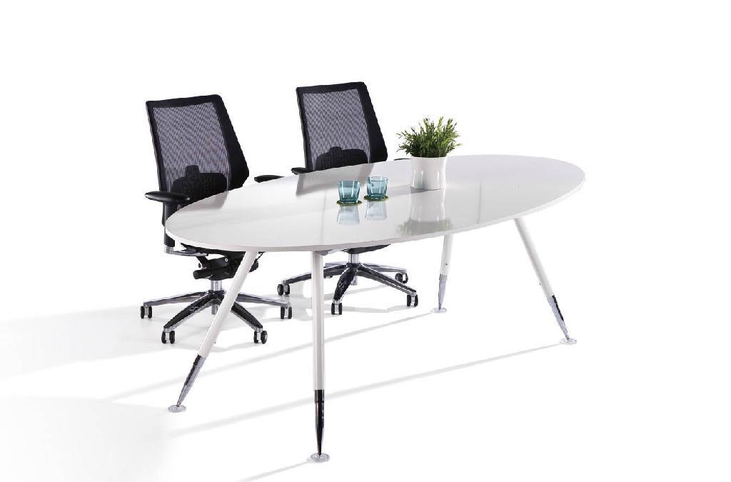 精緻鋼架會議桌 1
