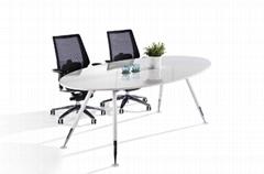 精緻鋼架會議桌