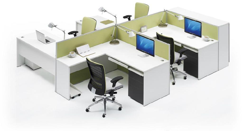 簡約組合式職員卡位辦公桌 1