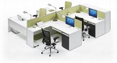 簡約組合式職員卡位辦公桌