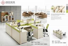 东莞办公家具时尚钢架办公屏风桌厚街办公室家具厂家