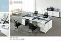 東莞辦公傢具時尚鋼架辦公屏風桌厚街辦公室傢具廠家 3