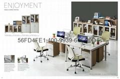 东莞现代简约职员办公屏风桌 时尚钢架办公卡座 国信厂家现货直供