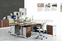 东莞钢架屏风隔断办公桌 办公室家具 时尚现代办公屏风桌