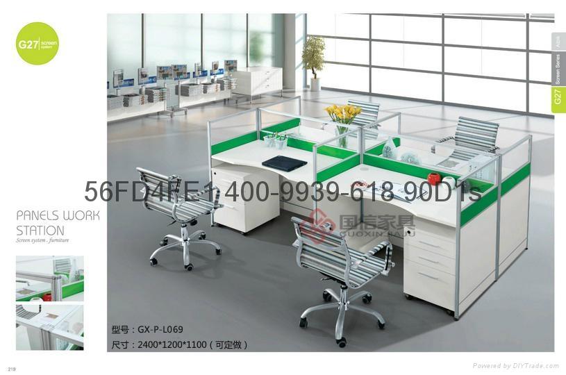 現代職員卡座 屏風隔斷辦公桌 東莞辦公屏風 厚街辦公室傢具廠家 1