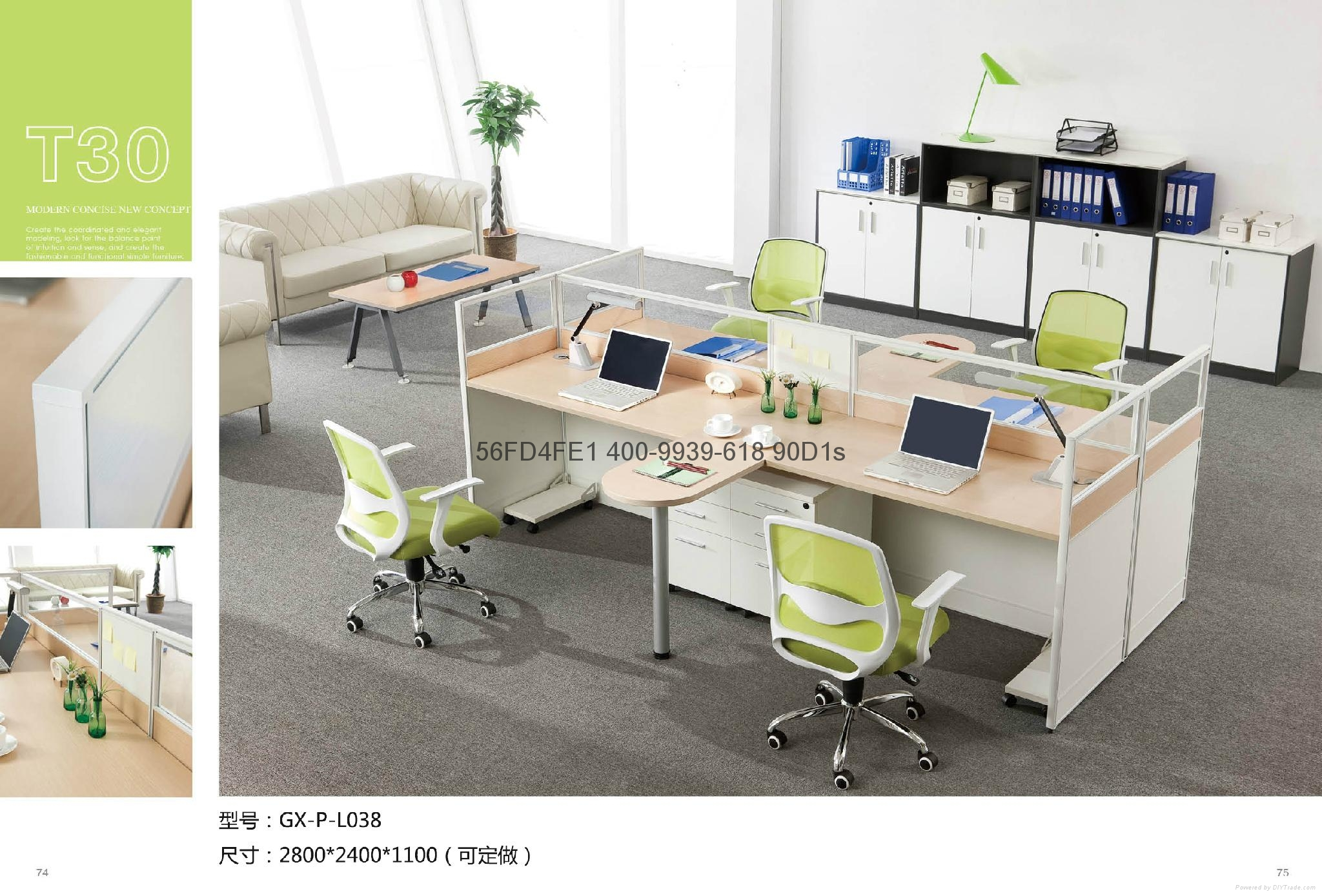 現代職員卡座 屏風隔斷辦公桌 東莞辦公屏風 厚街辦公室傢具廠家 4