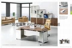 东莞办公家具单人位办公桌 主管经理办公桌 钢架转角卡座