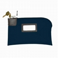 2''x5'' Name Card pocket on Middle 7 Pin Locking bank bag shenzhen Factory