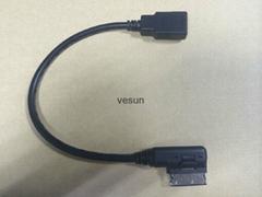 奧迪音頻數據線奧迪大眾ami連接線(接口USB)
